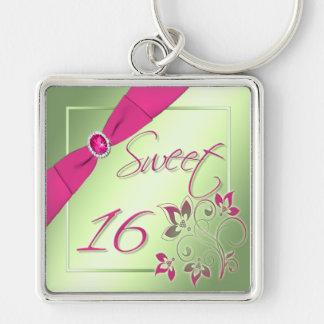 Porte-clés Porte - clé rose, vert, et jaune de sweet sixteen