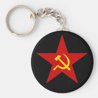 Porte-clés Porte - clé rouge communiste d'étoile (marteau et