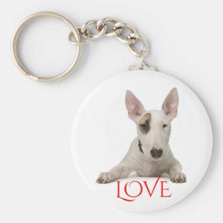 Porte-clés Porte - clé rouge d'amour de chiot de bull-terrier