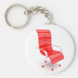 Porte-clés Porte - clé rouge de chaise de bureau