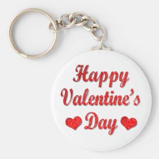 Porte-clés Porte - clé rouge de coeurs de heureuse