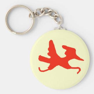 Porte-clés Porte - clé rouge de coureur