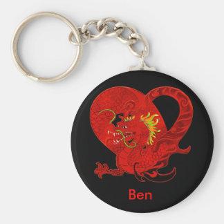 Porte-clés Porte - clé rouge de dragon