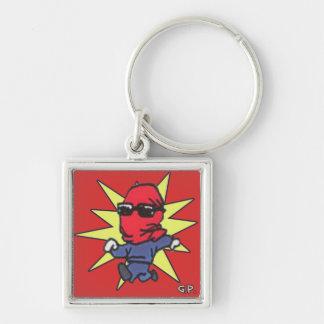 Porte-clés Porte - clé rouge de généraliste de vengeur