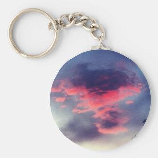 Porte-clés Porte - clé rouge mauvais de nuage