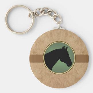 Porte-clés PORTE - CLÉ simili cuir de tête de cheval