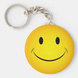 Porte-clés Porte - clé souriant jaune d'or de visage