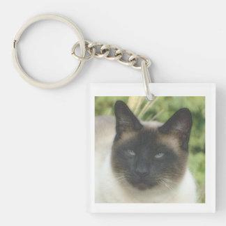 Porte-clés Porte - clé traditionnel de carré de chat siamois