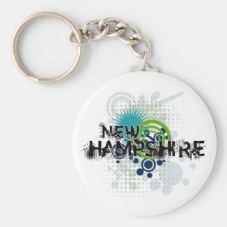 Porte-clés Porte - clé tramé grunge moderne du New Hampshire