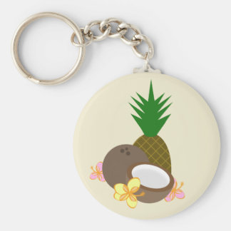 Porte-clés Porte - clé tropical - ketmie de noix de coco