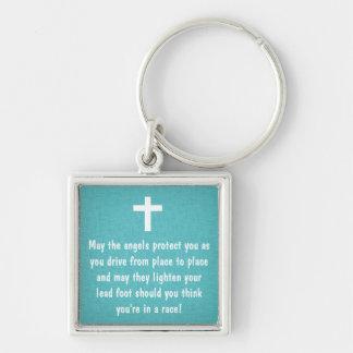 Porte-clés Porte - clé turquoise de bénédiction de la prière
