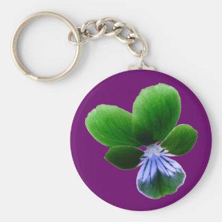 Porte-clés Porte - clé vert de pensée
