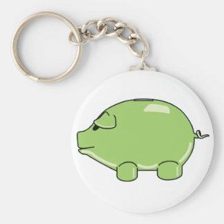 Porte-clés Porte - clé vert de porc