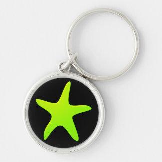 Porte-clés Porte - clé vert d'étoiles de mer
