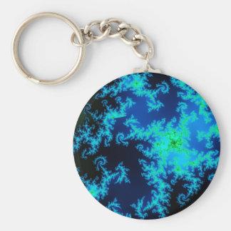 Porte-clés Porte - clé vert et bleu de fractale