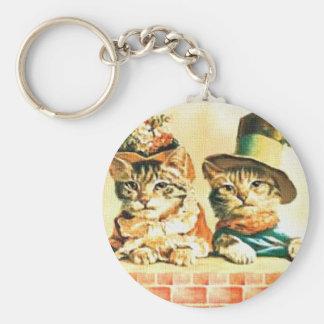 Porte-clés Porte - clé victorien de chatons
