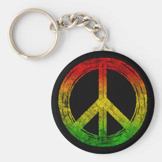 Porte-clés Porte - clés grunges frais de symbole de paix de