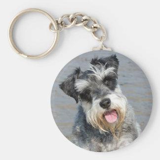 Porte-clés Portrait mignon de photo de chien miniature de