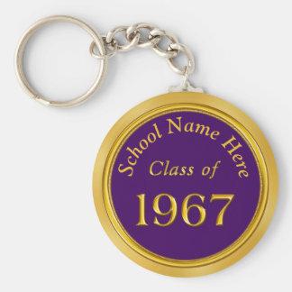 Porte-clés Pourpre fait sur commande, or 1967 hauts cadeaux