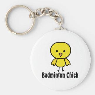 Porte-clés Poussin de badminton