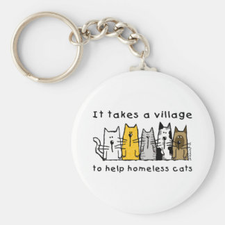 Porte-clés Prend à un sans-abri d'aide de village des chats