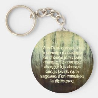 Porte-clés Prière sale de sérénité dans le porte - clé
