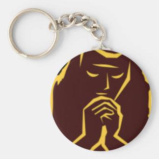 Porte-clés priez le porte - clé