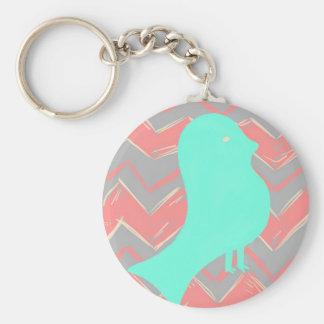 Porte-clés Produits turquoises d'oiseau de Chevron