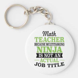 Porte-clés Professeur de maths Ninja multitâche pas une
