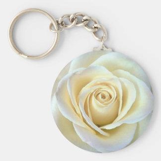 Porte-clés Prophétie du porte - clé de rose blanc de soeurs
