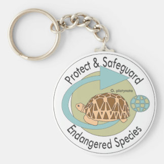 Porte-clés Protégez le porte - clé d'espèce menacée (vert 2)