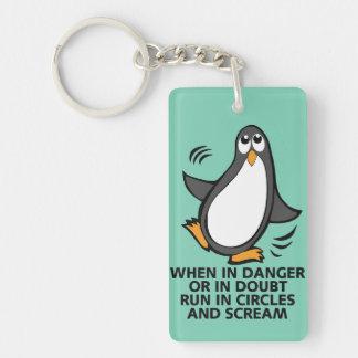 Porte-clés Quand en danger ou dans le graphique drôle de