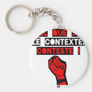 Porte-clés Quelque soit le CONTEXTE CONTESTE ! - Jeux de Mots