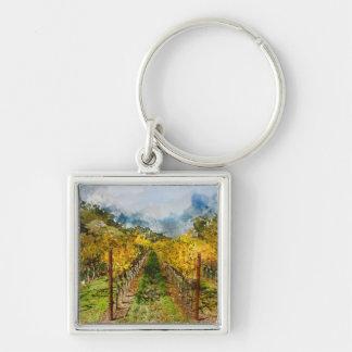 Porte-clés Rangées des vignes dans Napa Valley la Californie