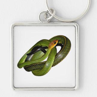 Porte-clés Ratsnake Noir-mis en marge ou serpent de rat vert