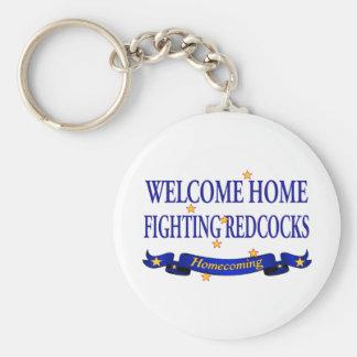 Porte-clés Redcocks de combat à la maison bienvenu