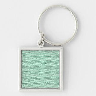 Porte-clés Regard de maille d'armure de vert de Seafoam