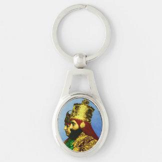 Porte-clés Reggae Ethiopie Jamaïque de Haile Selassie Rasta