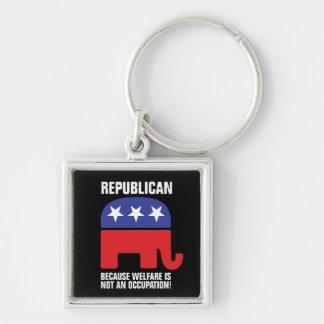 Porte-clés Républicain - puisque l'aide sociale n'est pas une