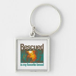 Porte-clés Rescued est ma race préférée, porte - clé