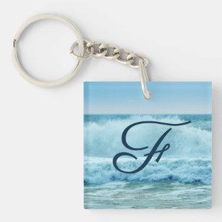Porte-clés Ressac de monogramme se brisant sur le rivage