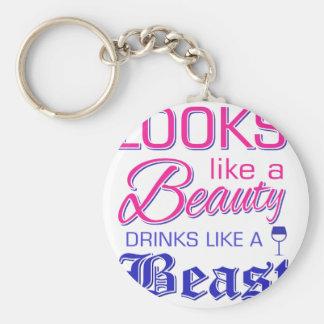 Porte-clés Ressemble aux boissons d'une beauté comme une bête