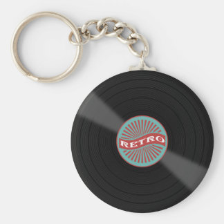 Porte-clés Rétro disque de musique