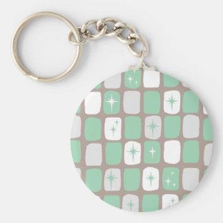Porte-clés Rétro porte - clé de bouton de Starbursts de jade