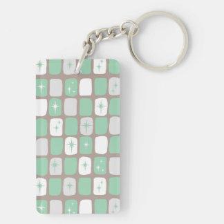 Porte-clés Rétro porte - clé de rectangle de Starbursts de