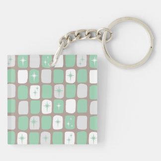 Porte-clés Rétro porte - clé de Starbursts de jade