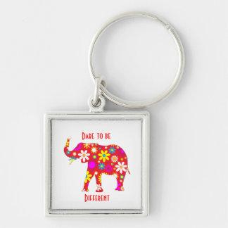 Porte-clés Rétro porte - clé fleuri génial d'éléphant de