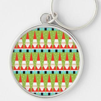 Porte-clés Rétro porte - clé géométrique de Père Noël