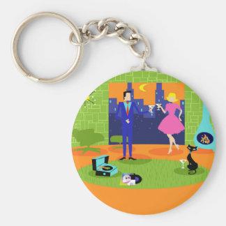 Porte-clés Rétro porte - clé romantique de bouton de couples