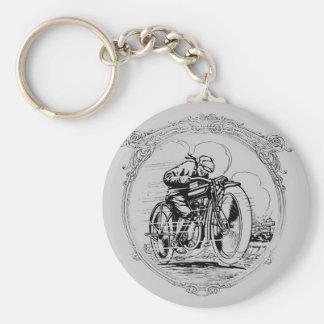 Porte-clés Rétro porte - clé vintage d'homme de moto